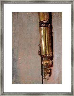 Door Hinge Framed Print by Odd Jeppesen