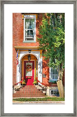 Door In Historic District I Framed Print by Steven Ainsworth