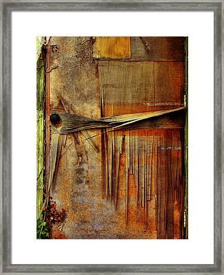 Door In Old Waterworks Building Framed Print by Steven Ainsworth