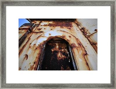 Door Of Rust Framed Print by David Lee Thompson