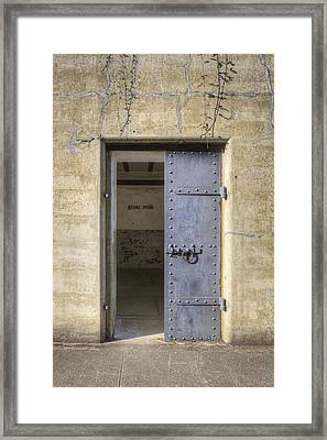 Door To Store Room Of A Disused Gunnery Framed Print