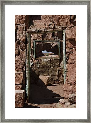 Door To The Window Of My Soul Framed Print