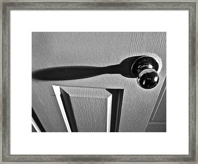 Framed Print featuring the photograph Doorknob by Bill Owen