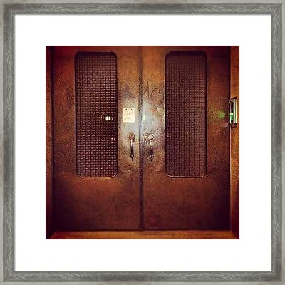 #door#photography#art#steampunk#prison Framed Print by Jenni Martinez