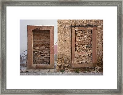 Framed Print featuring the photograph Doors - Mineral De Pozos Mexico by Craig Lovell