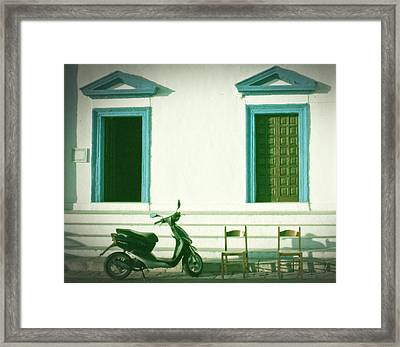 Doors And Chairs Framed Print