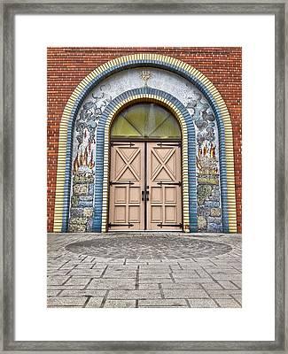 Doors Of Faith  Framed Print by Jerry Cordeiro
