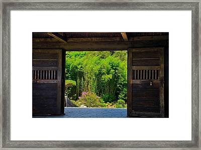 Framed Print featuring the photograph Doors To Garden by Joseph Hollingsworth