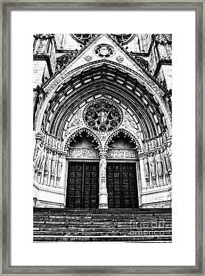 Doors To Saint John The Divine Framed Print