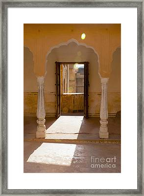Doorway And Arch In The Amber Fort Framed Print by Inti St. Clair