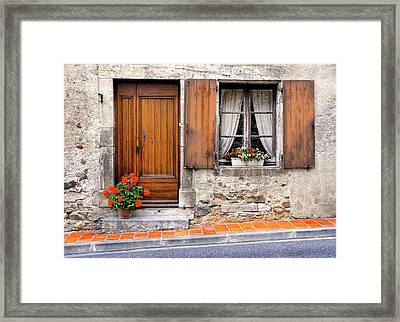 Framed Print featuring the photograph Doorway And Window In Provence France by Dave Mills