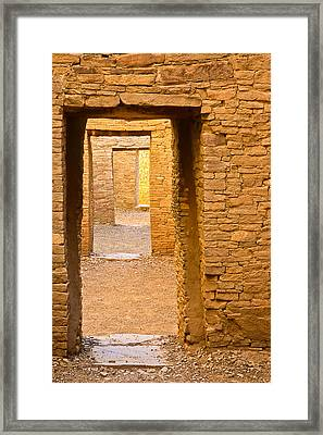 Doorway Chaco Canyon Framed Print by Tom and Pat Cory