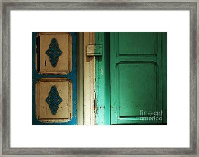 Doorway In Tunisia 4 Framed Print by Bob Christopher