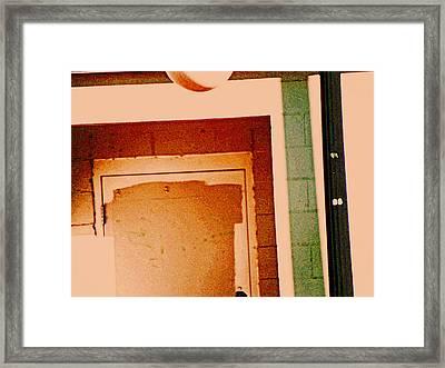 Doorway On Northern Avenue Framed Print by Lenore Senior