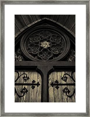 Doorway To Faith - First Presbyterian Church Of Salt Lake City Framed Print by Steven Milner