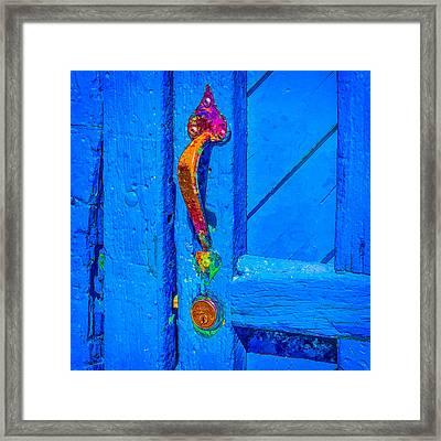 Doorway To Santa Fe Framed Print by Ken Stanback