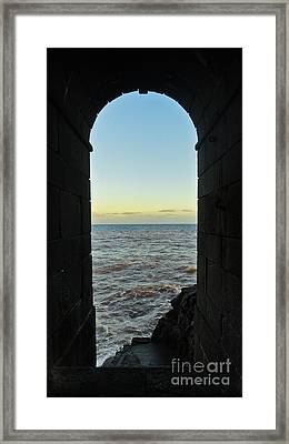 Doorway To The Sea Framed Print by Nabucodonosor Perez