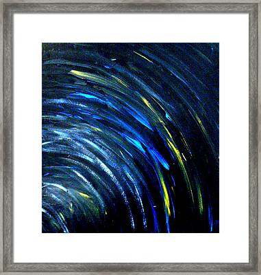 Framed Print featuring the painting Doppler by Monica Furlow