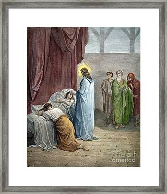 Dor�: Jairus Daughter Framed Print by Granger