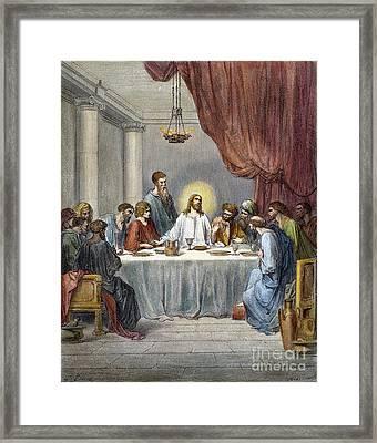 Dor�: Last Supper Framed Print by Granger