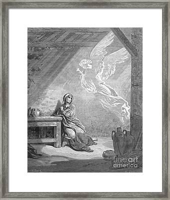 Dor�: The Annunciation Framed Print by Granger