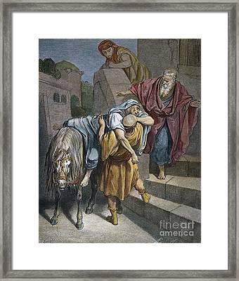 Dore: Good Samaritan Framed Print by Granger