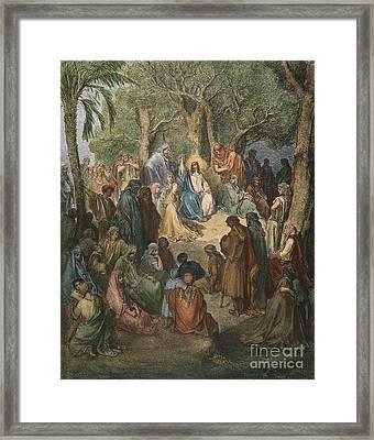 Dore: Sermon On The Mount Framed Print by Granger