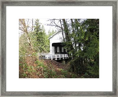 Dorena Bridge Framed Print by David Kingman