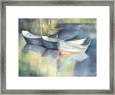 Dories I Framed Print by Bonnie Ross