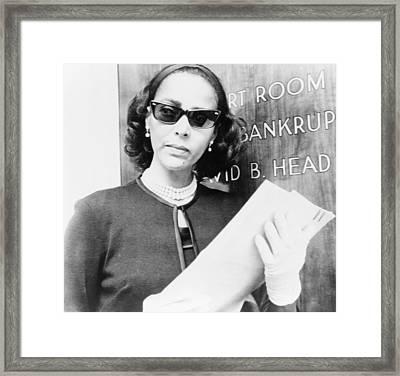 Dorothy Dandridge 1922-1965, Prepares Framed Print by Everett