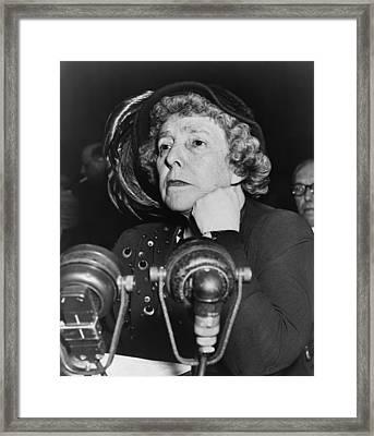 Dorothy Kenyon Before The Senate Framed Print by Everett