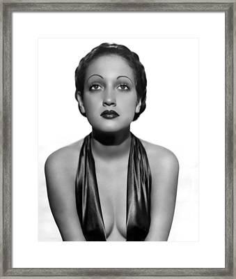 Dorothy Lamour As A C.b.s. Radio Framed Print