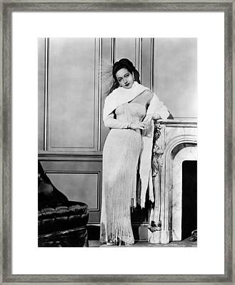 Dorothy Lamour, Ca. Late 1940s Framed Print by Everett