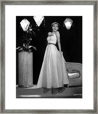 Dorothy Lamour, Paramount Pictures, 1940 Framed Print