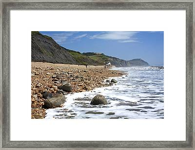 Dorset Coast Framed Print by Shirley Mitchell