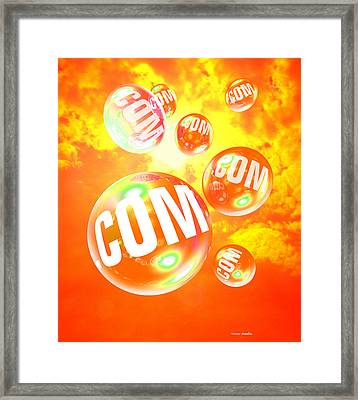 Dot Com Bubbles Framed Print by Victor Habbick Visions