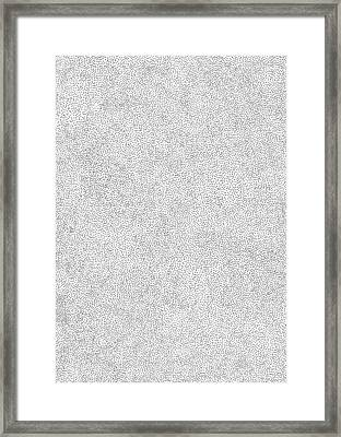 Dots And Stipples Framed Print by Karl Addison