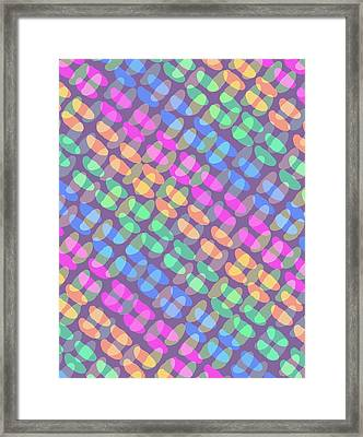 Dotted Check Framed Print by Louisa Knight