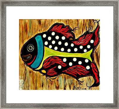 Dotted Fish Framed Print by Amy Carruth-Drum