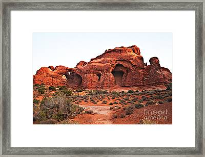 Double Arch II Framed Print by Robert Bales