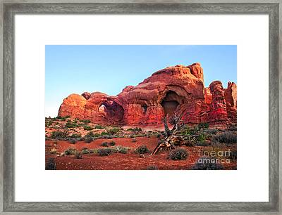Double Arch Framed Print by Robert Bales