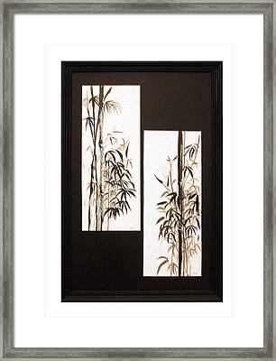 Framed Print featuring the painting Double Bamboo by Alethea McKee