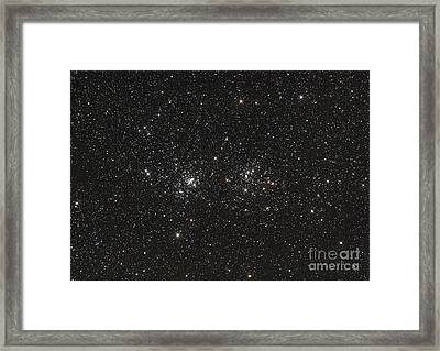 Double Cluster In Perseus Ngc 869 Framed Print by Philip Hart