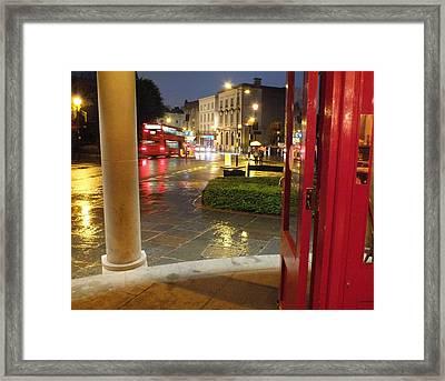 Double Decker Blur II Framed Print