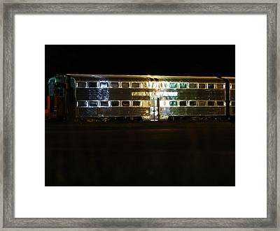 Double Decker Framed Print by Dennis Leatherman