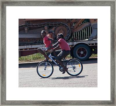 Double Dink Framed Print by Carole Hinding