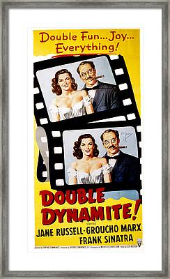 Double Dynamite, Jane Russell, Groucho Framed Print