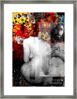 Double Fantasy John Lennon Yoko Ono Nude Framed Print by Karine Percheron-Daniels
