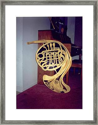 Double French Horn Framed Print