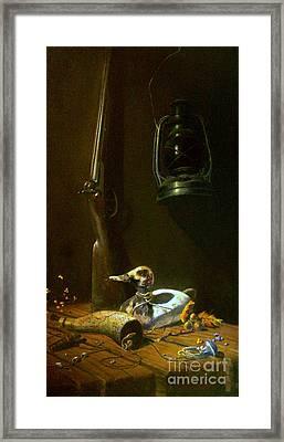 Double Hammer Duck Hunt Framed Print by Tom Jennerwein
